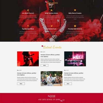 免费静态网页模板下载圣诞节狂欢夜专题页模板站长下载网