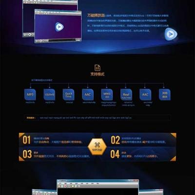 实用的万能播放器介绍页面模板html下载免费静态网页模板下载站长源码网