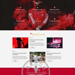 免费静态网页模板下载 圣诞节狂欢夜专题页模板站长下载网